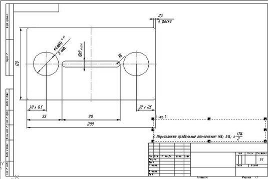 Изменение положения технических требований на чертеже